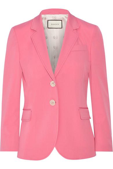 Gucci - Stretch Wool And Silk-blend Blazer - Bubblegum