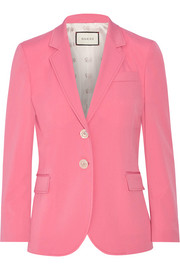 Stretch wool and silk-blend blazer