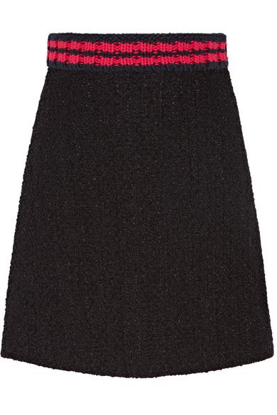 Gucci - Tweed Mini Skirt - Black