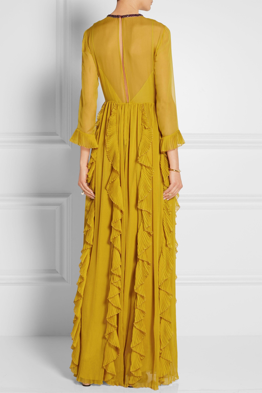 Gucci Embellished silk-chiffon gown