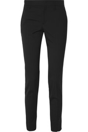 Wool and silk-blend straight-leg pants