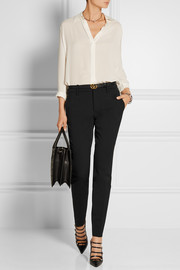 Gucci Wool and silk-blend straight-leg pants