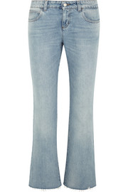 Low-rise flared jeans