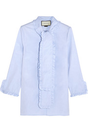 Gucci Ruffled cotton-poplin shirt