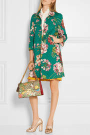 Gucci Quilted floral-print cotton-blend coat