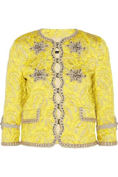 Gucci - Metallic Brocade Jacket - Yellow