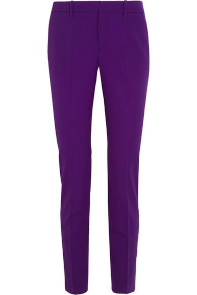 Gucci - Wool-blend Straight-leg Pants - Purple