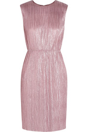 Gucci Plissé lamé mini dress