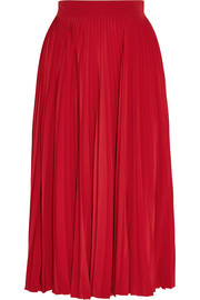 Gucci Pleated silk-chiffon midi skirt
