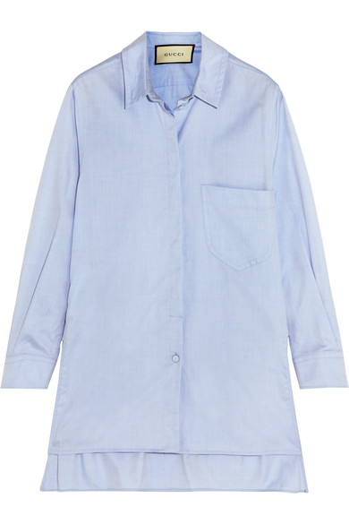 gucci female 201920 gucci cotton shirt blue