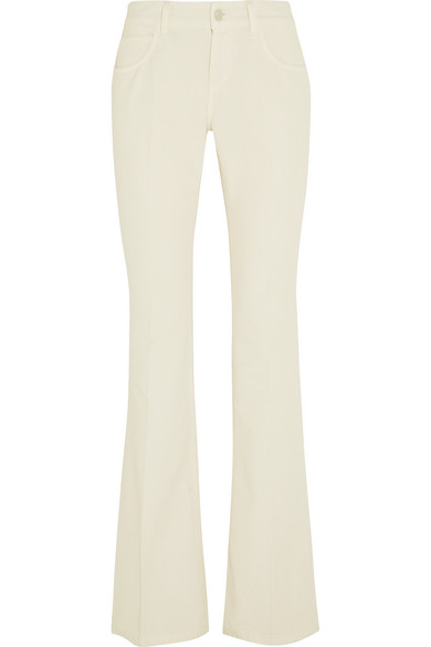 gucci female 45883 gucci midrise flared jeans white