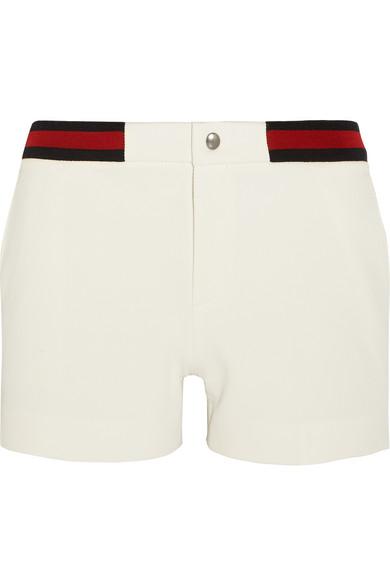 Gucci - Stripe-trimmed Twill Shorts - Off-white