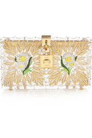 Box embellished Perspex clutch