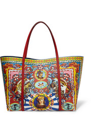 Dolce & Gabbana Escape large printed textured-leather tote