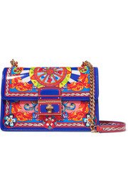 Dolce & Gabbana Rosalita printed patent-leather shoulder bag