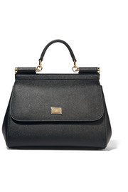 Dolce & Gabbana Sicily medium textured-leather shoulder bag