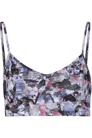Printed stretch-Supplex® sports bra