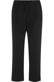 Monia satin straight-leg pants