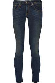R13 Kate cropped low-rise skinny jeans