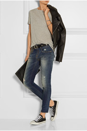 Boy distressed low-rise slim boyfriend jeans