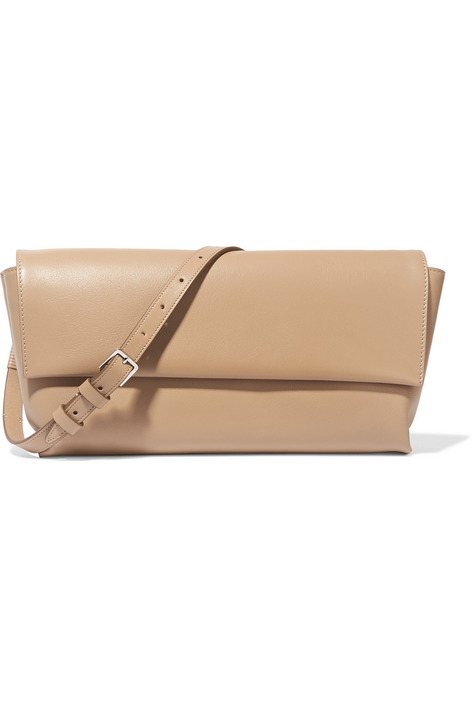 The Row Flap Small Leather Shoulder Bag, Beige, Women's
