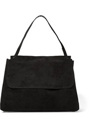 Top Handle 14 suede shoulder bag