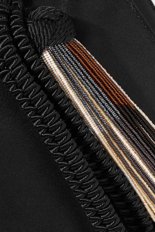 The Row Wristlet silk-satin clutch