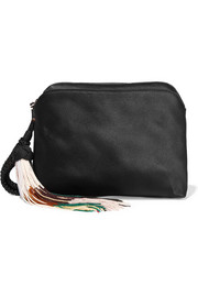 Wristlet silk-satin clutch