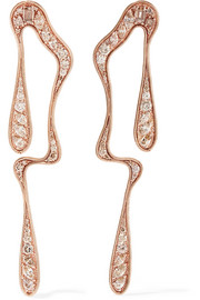 Stream 18-karat rose gold diamond earrings