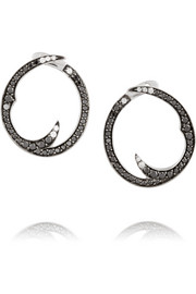 Thorn Classic 18-karat white gold diamond hoop earrings