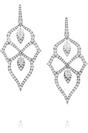 Belle Epoque 18-karat white gold diamond earrings