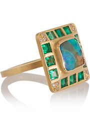 Hoffman 18-karat gold multi-stone ring