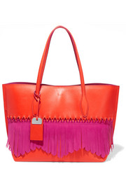 Tod's Joy Origami fringed leather tote