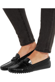 Tod's Gommino glossed-leather loafers