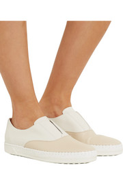 Two-tone leather espadrilles