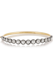 Collection 18-karat gold and sterling silver diamond bracelet