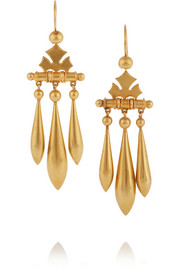1880s 18-karat gold earrings