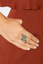 1960s 18-karat gold multi-stone ring