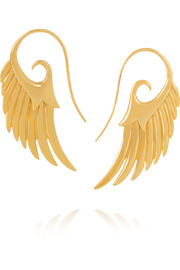 Wing 18-karat gold earrings