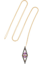Octave Pendulum 18-karat gold, amethyst and diamond necklace