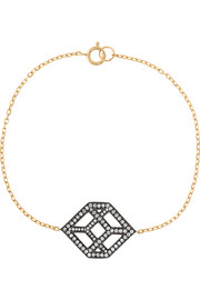 Cube 18-karat gold diamond bracelet