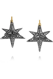 Merkaba 18-karat gold diamond earrings