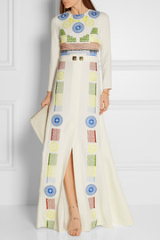 Peter Pilotto Medea embroidered crepe gown