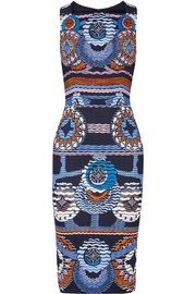 Kia printed stretch-jersey dress