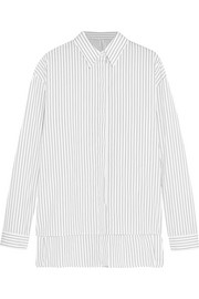 Pinstriped cotton-poplin shirt