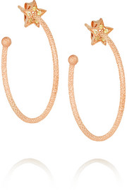 Carolina Bucci Shooting Star 18-karat rose gold sapphire earrings