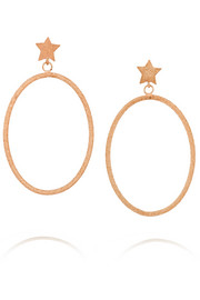 Carolina Bucci Shooting Star 18-karat rose gold earrings