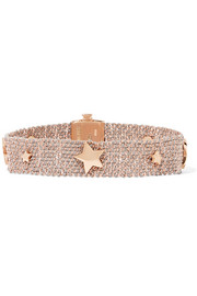 Carolina Bucci Woven 18-karat rose-gold and silk bracelet