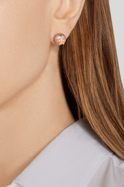 18-karat rose gold, pearl and sapphire earrings