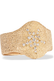 Carolina Bucci 18-karat gold diamond ring